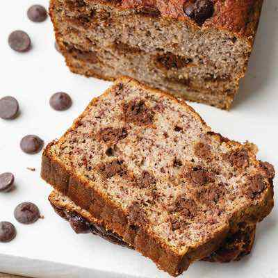 Dark Chocolate Chip Coconut Flour Banana Bread