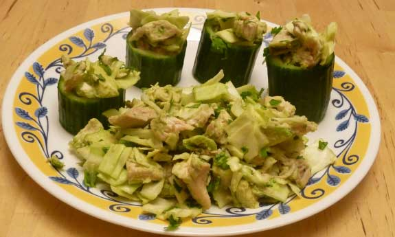 chicken avocado salad with cilantro and lime