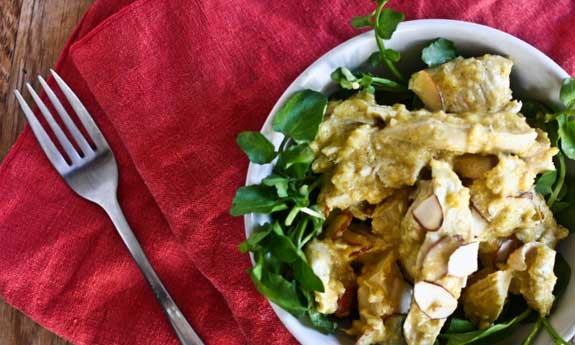 mango curry chicken salad