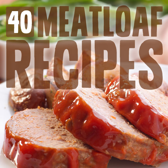 40 Meatloaf Recipes (Bread Crumb Free)- from classic homestyle meatloaf to healthier turkey recipes.
