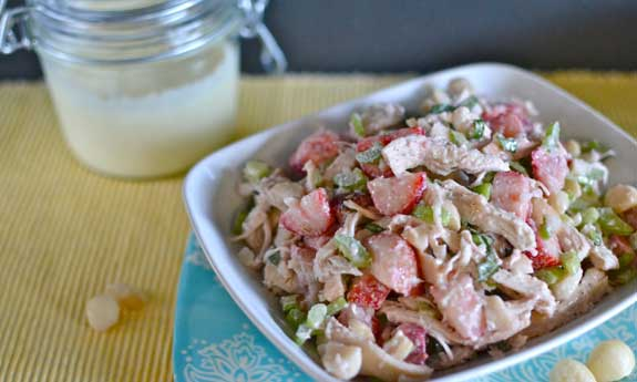strawberry and macadamia nut salad