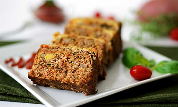 sweet potato and herb meatloaf