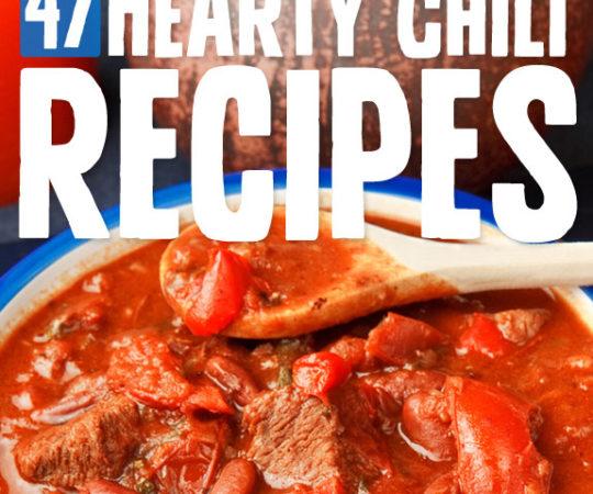 47 Hearty Chili Recipes- great list of unique & tasty chili recipes.