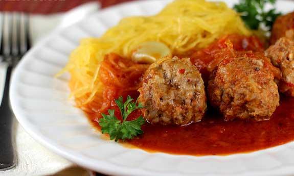 paleo spaghetti and meatballs