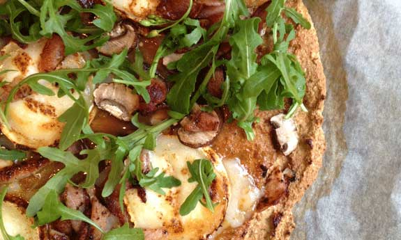 rhubarb chipotle goat cheese pizza