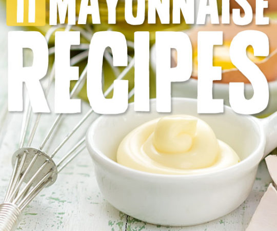 11 Homemade Mayonnaise Recipes- once you make your own homemade mayo, you will never go back!