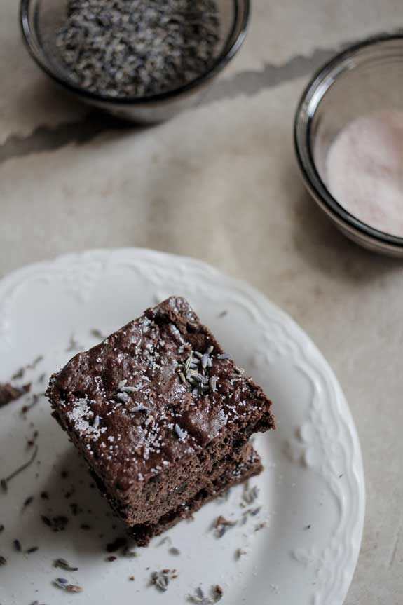 lavender brownies