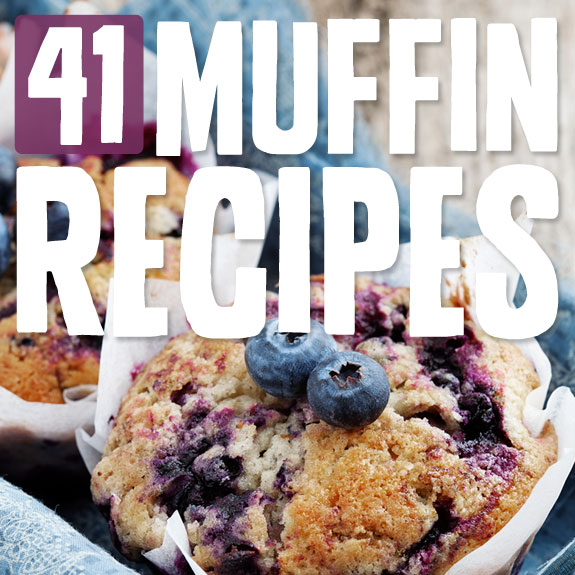 41 Awesome Muffin Recipes- both sweet & savory.