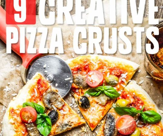 9 Creative Pizza Crusts- unique grain-free & low carb pizza crust recipes.