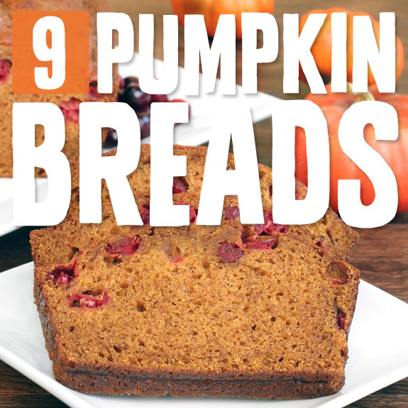 9 Grain-Free Pumpkin Breads- deliciously low carb pumpkin bread recipes.
