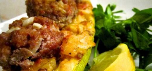 zucchini meatball sandwich