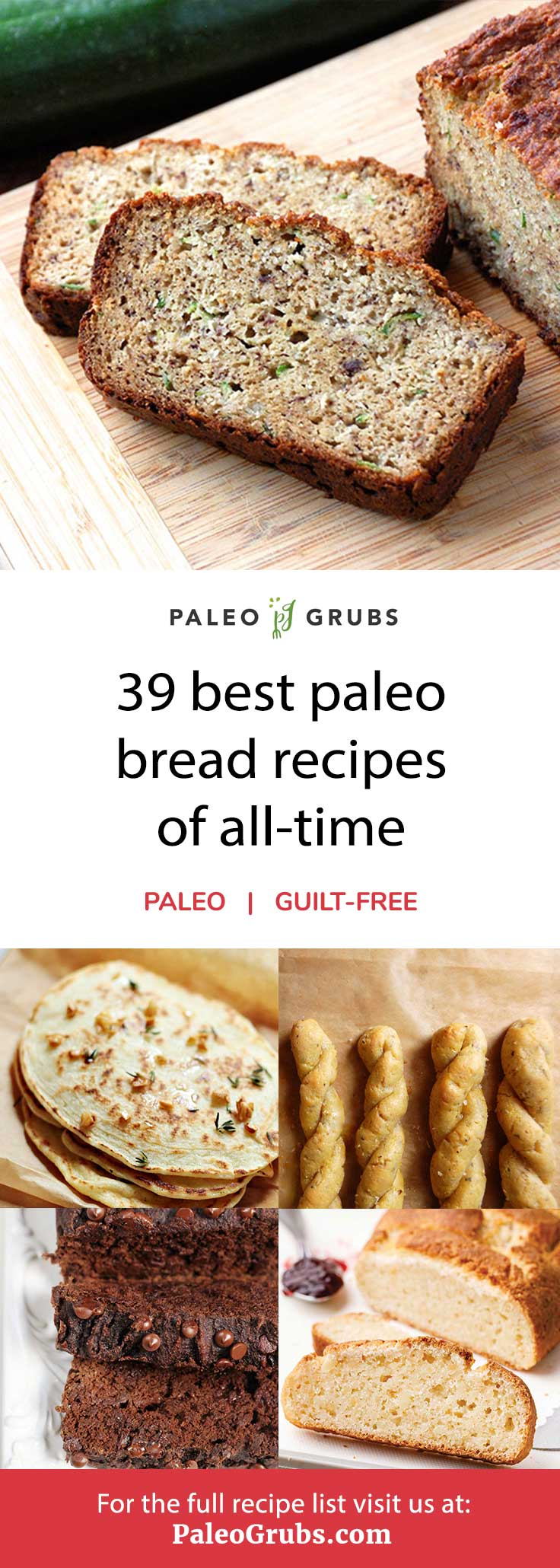 This is the best list of grain-free paleo bread recipes.