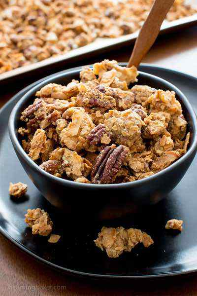 Homemade Chunky Paleo Granola with Clusters
