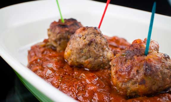 beef and bacon meatballs
