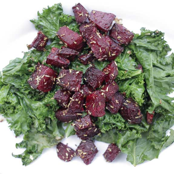 Rosemary Beets with Garlicky Kale | Paleo Grubs