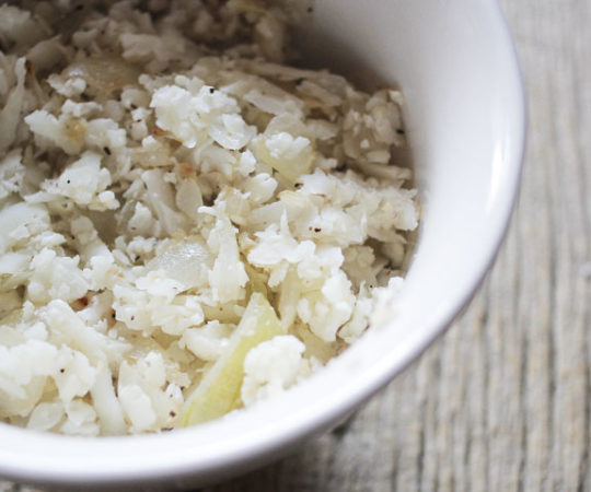 "How to Make Cauliflower ""Rice""- a delicious, low carb alternative to rice."