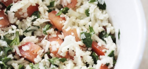 Cauliflower Tabbouleh- super healthy & delicious.