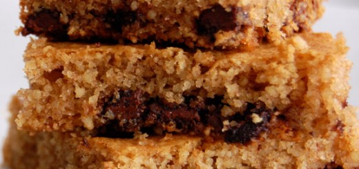 Chocolate Chip Cookie Bars- grain-free & gluten-free.