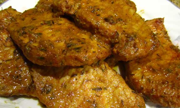 citrus thyme pork chops