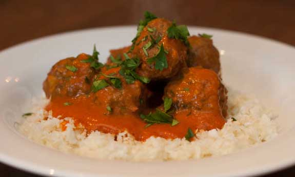 coconut curry paleo meatballs