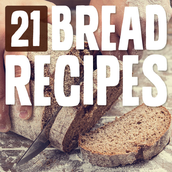 21 Bread Recipes- this is an awesome list of grain-free bread recipes!