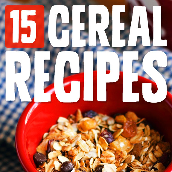 15 Homemade Cereals- with no artificial ingredients.