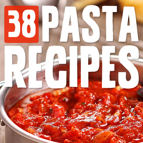 38 Creative Pasta Recipes- grain-free and low carb, using creative ingredients as the pasta like zucchini and spaghetti squash. Love this!
