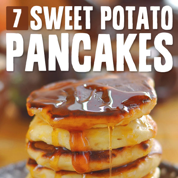 7 Sweet Potato Pancakes- with no flour or added sugar.