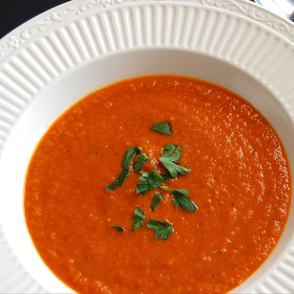 Roasted Tomato Soup- perfect meal for a cold day.