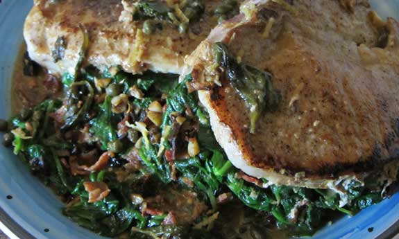 spinach stuffed pork chops
