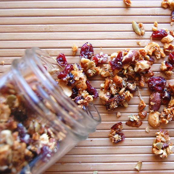 Homemade Sweet and Salty Granola- love this homemade grain-free granola.