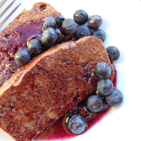 How to Make Paleo French Toast- with blueberry syrup.
