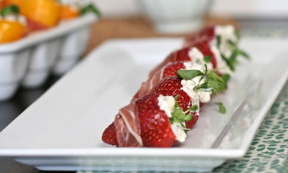 proscuitto wrapped berry snack