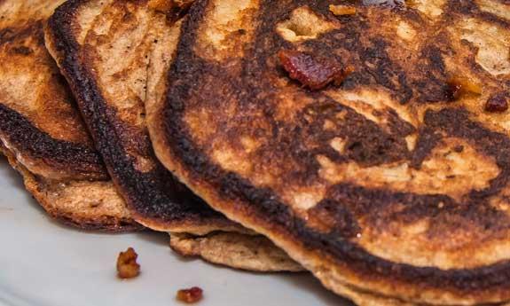 banana bacon paleo pancakes
