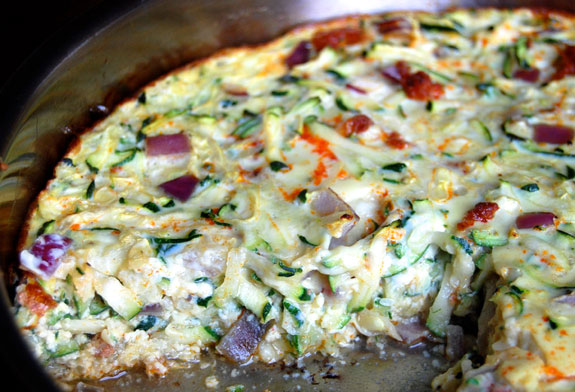 Zucchini and Chorizo Paleo Breakfast Casserole | Paleo Grubs
