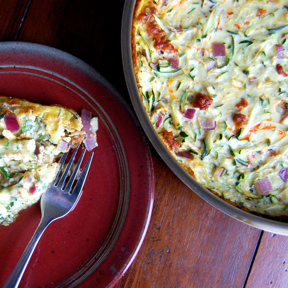 Zucchini and Chorizo Breakfast Casserole- my favorite breakfast!