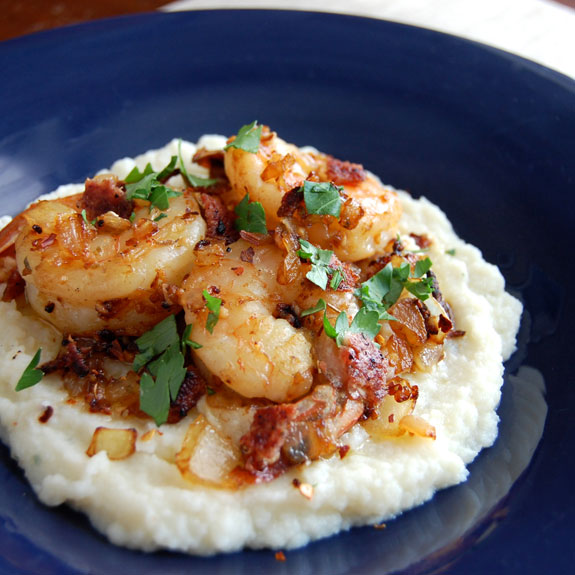 Shrimp and Grits- paleo style.