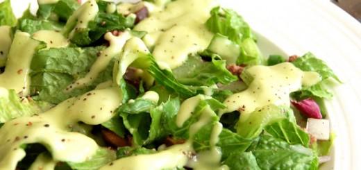 Taco Salad with Creamy Avocado Dressing- yum!