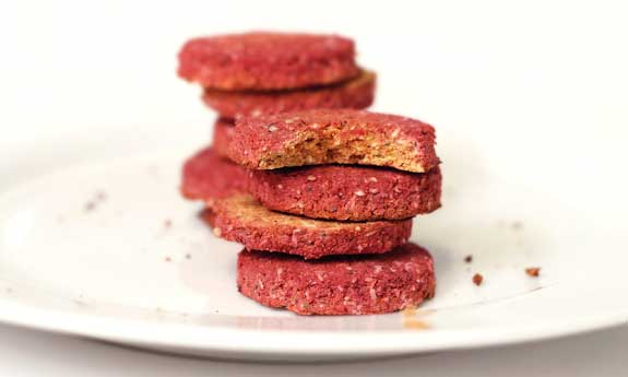 red beet and carrot cookies