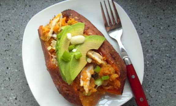 baked chicken sweet potato