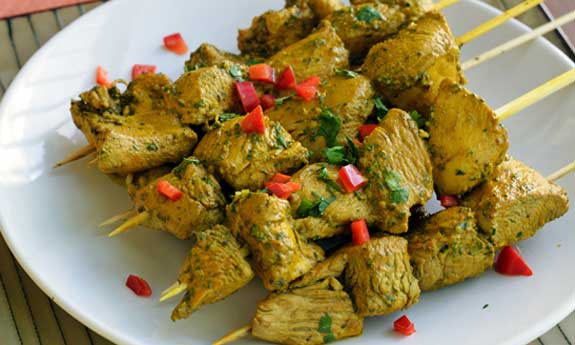 green chicken tandoori