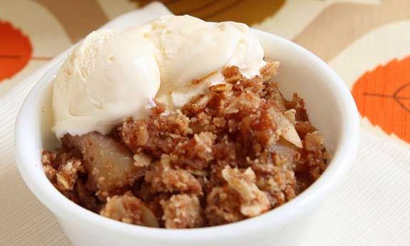 low carb apple crisp