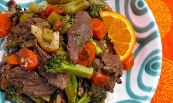 mandarin beef stir fry