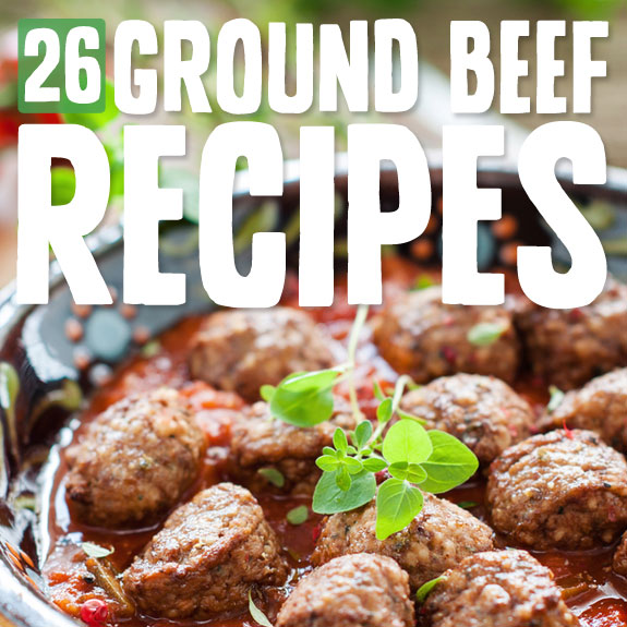 Here is a great list of delicious ground beef recipes. These are so easy to make and one of my favorites when I need to pull together a quick meal.