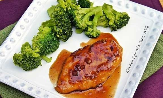 raspberry glazed chicken