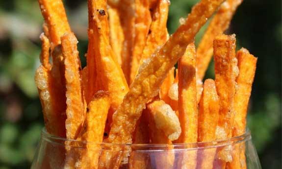 Paleo sweet potato fries arrowroot