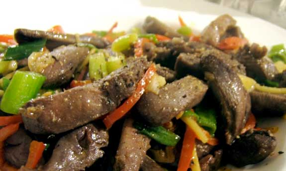 wood pigeon stir fry