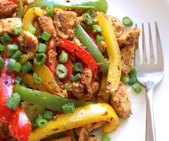 Spicy Pepper Chicken Stir Fry- YUM! So quick, healthy and tasty.