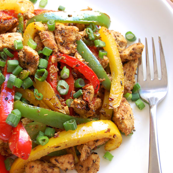 Spicy Pepper Chicken Stir Fry (YUM!)