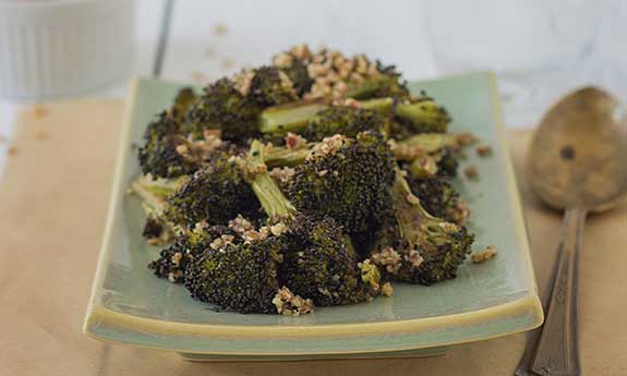 oven roasted pecan broccoli